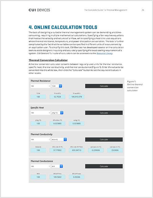 Thermal Management eBook Calculators