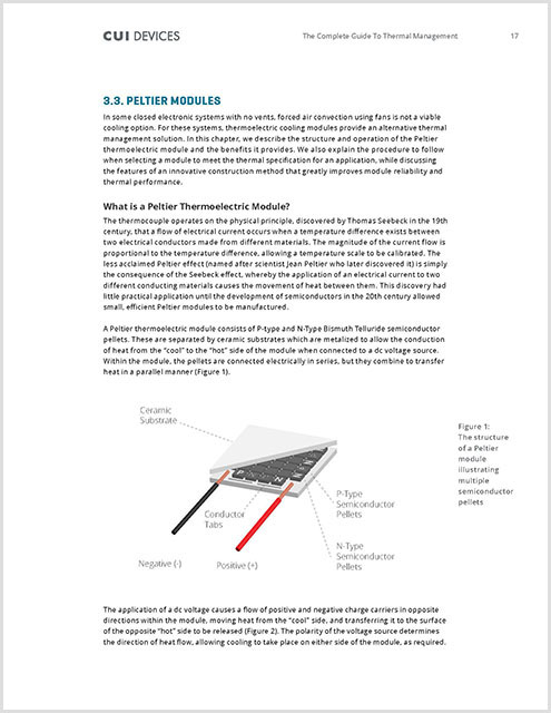 Thermal Management eBook Peltier Devices