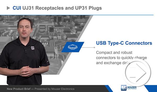 Mouser Electronicsの新製品紹介でCUI DevicesのUSBタイプCコネクターがハイライトされました