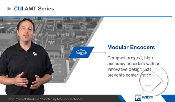Mouser Electronics' New Product Brief Highlights CUI Devices' AMT Modular Encoders
