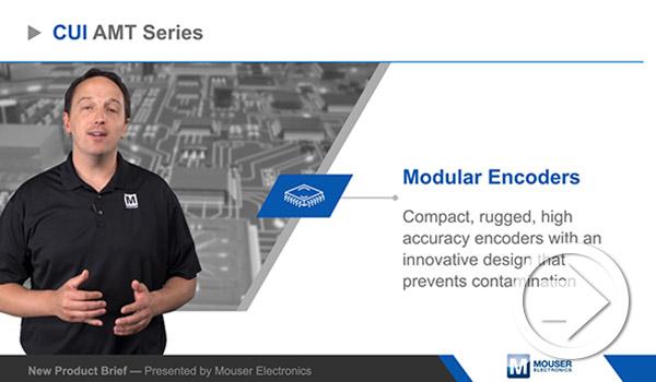 Mouser Electronicsの新製品紹介でCUI DevicesのAMTモジュラー・エンコーダーがハイライトされました