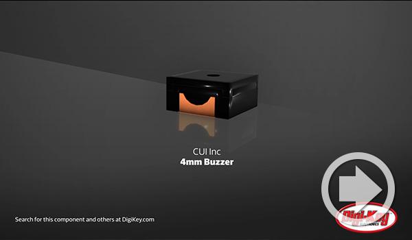 Digi-Keyデイリー・ビデオでCUI Devicesの4mmマイクロ・ブザー・シリーズがハイライトされました
